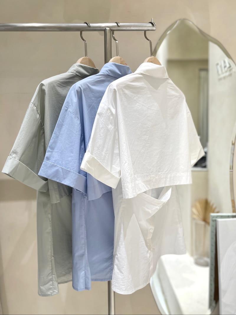 TWENTY FOUR SEVEN - BRAND - Korean Children Fashion - #Kfashion4kids - back-open Shirt