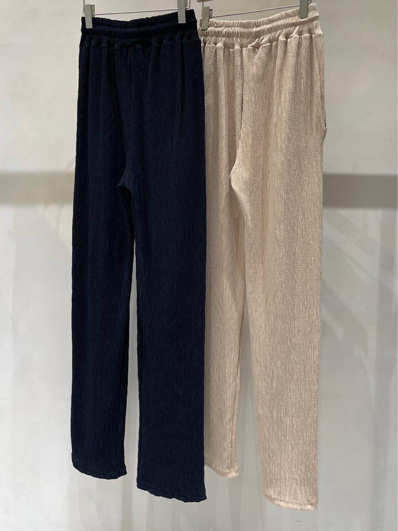 TWENTY FOUR SEVEN - Korean Children Fashion - #Kfashion4kids - Plan Wrinkle Pants - 3