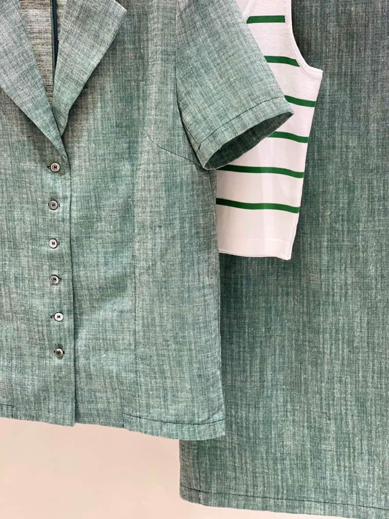 TWENTY FOUR SEVEN - Korean Children Fashion - #Kfashion4kids - Slub Linen Top Bottom Set