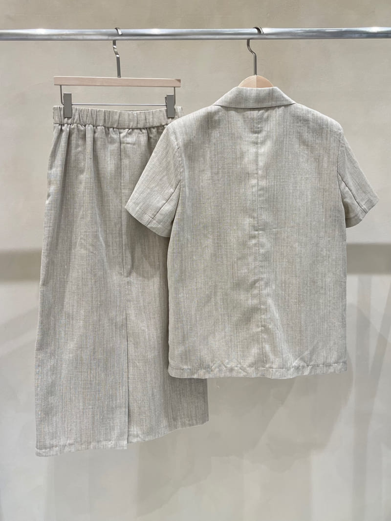 TWENTY FOUR SEVEN - Korean Children Fashion - #Kfashion4kids - Slub Linen Top Bottom Set - 4