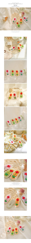 ARIM CLOSET - Korean Children Fashion - #Kfashion4kids - Flower Knit Hairpin - 2
