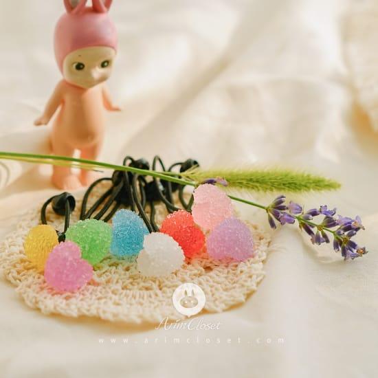 ARIM CLOSET - BRAND - Korean Children Fashion - #Kfashion4kids - Candy Heart Hairring [set of 3]