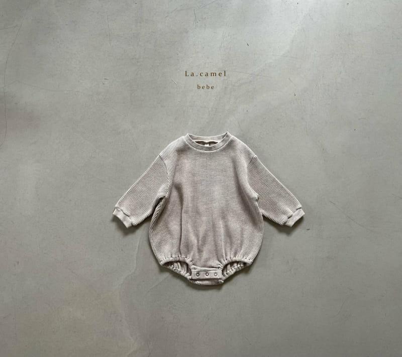 LA CAMEL - Korean Children Fashion - #Kfashion4kids - Baguette Big Waffle Romper - 3