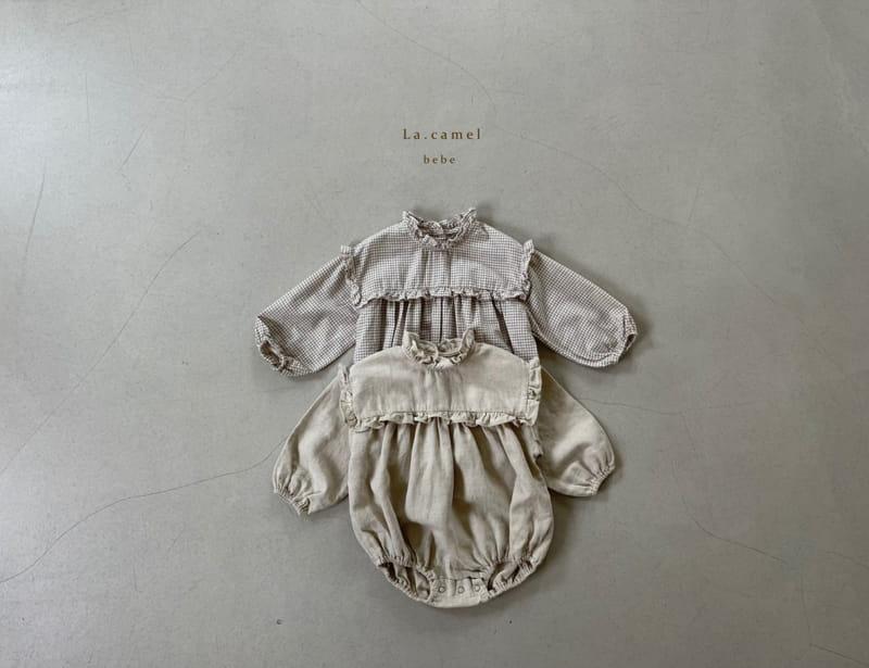 LA CAMEL - Korean Children Fashion - #Kfashion4kids - Pompom Bodysuit - 6