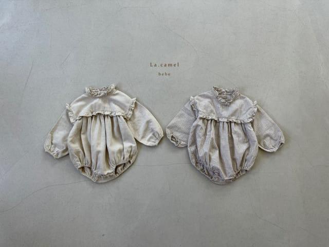 LA CAMEL - BRAND - Korean Children Fashion - #Kfashion4kids - Pompom Bodysuit