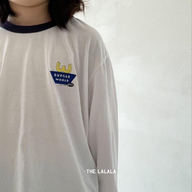 THE LALALA - BRAND - Korean Children Fashion - #Kfashion4kids - Burger Ringer Tee
