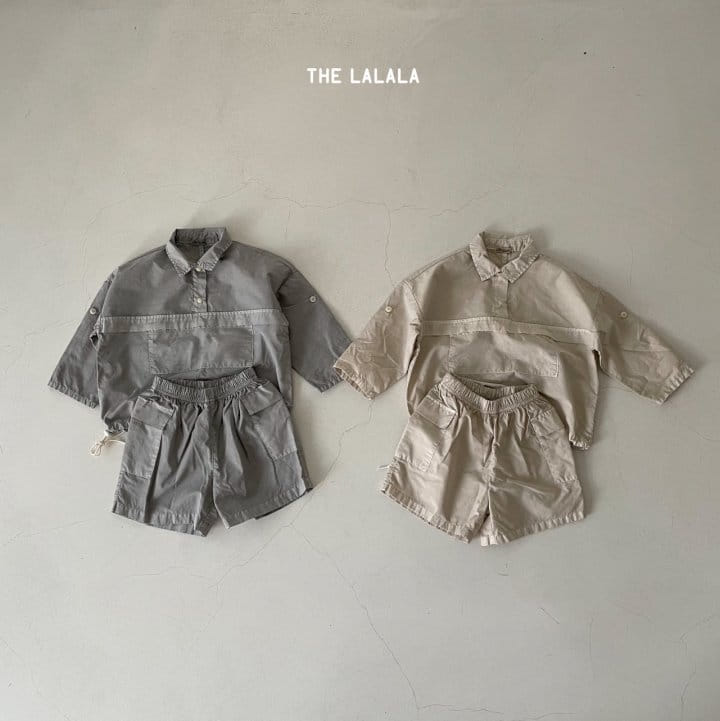 THE LALALA - Korean Children Fashion - #Kfashion4kids - Anorak Shorts Set - 4