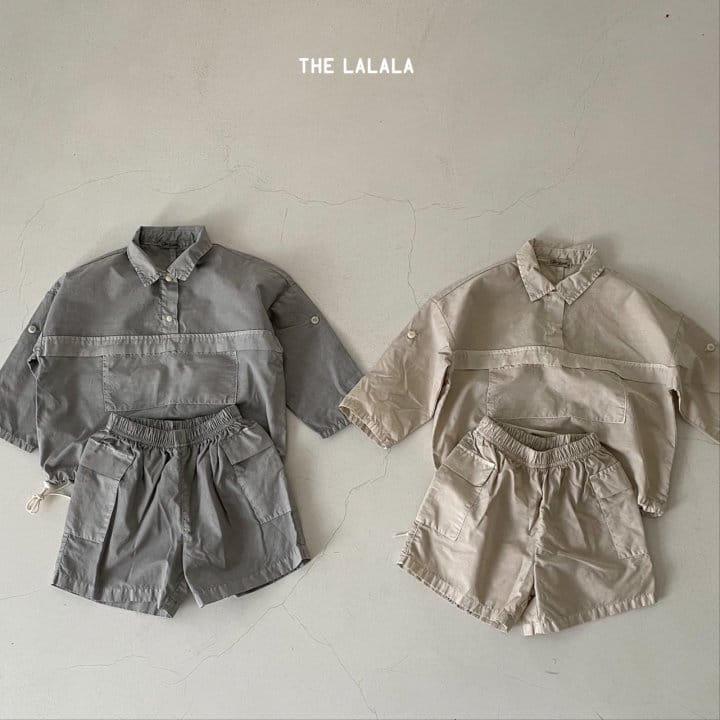 THE LALALA - Korean Children Fashion - #Kfashion4kids - Anorak Shorts Set - 5
