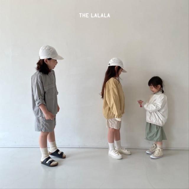 THE LALALA - BRAND - Korean Children Fashion - #Kfashion4kids - Anorak Shorts Set