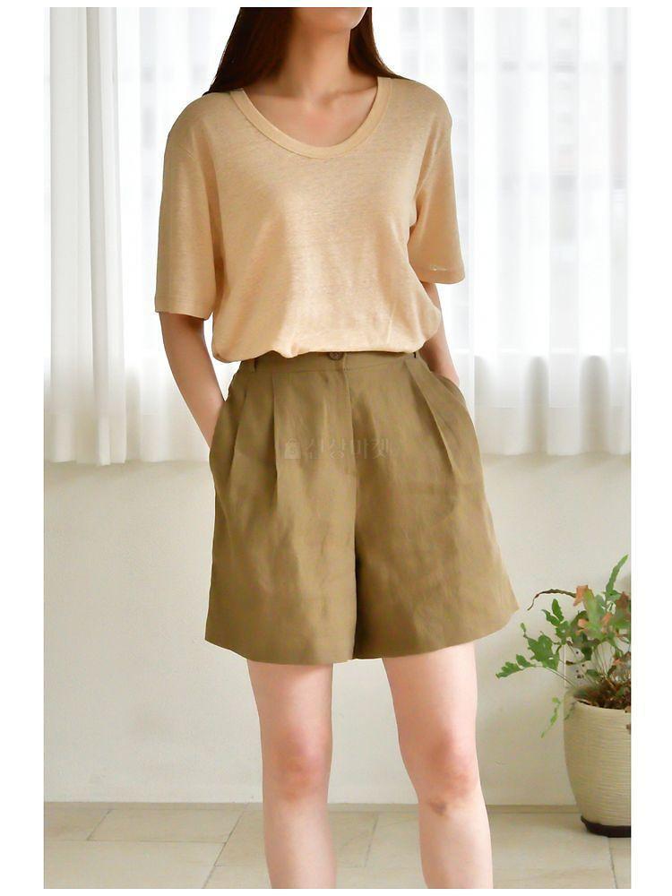UERE - Korean Children Fashion - #Kfashion4kids - Linen Half-length Pants - 2