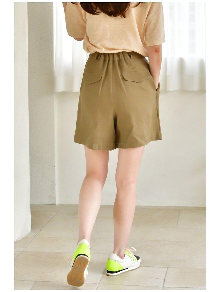 UERE - Korean Children Fashion - #Kfashion4kids - Linen Half-length Pants - 3