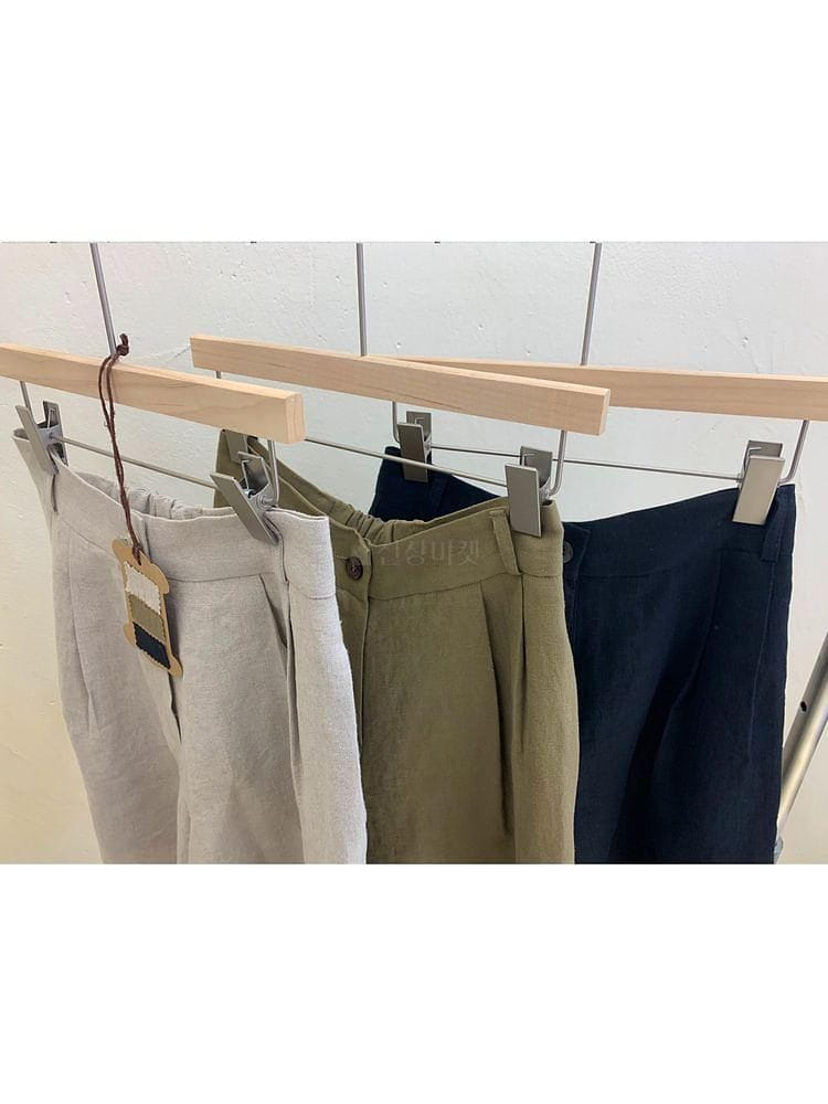 UERE - Korean Children Fashion - #Kfashion4kids - Linen Half-length Pants - 4