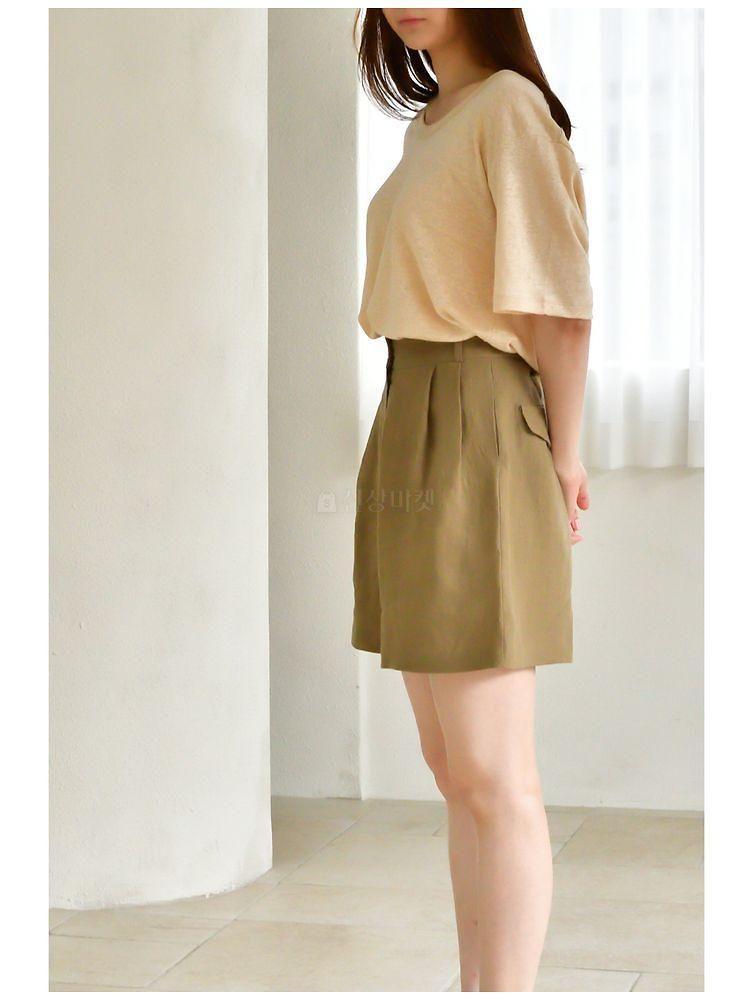 UERE - BRAND - Korean Children Fashion - #Kfashion4kids - Linen Half-length Pants