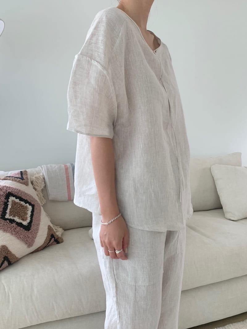 UERE - Korean Children Fashion - #Kfashion4kids - Two-way Linen Blouse