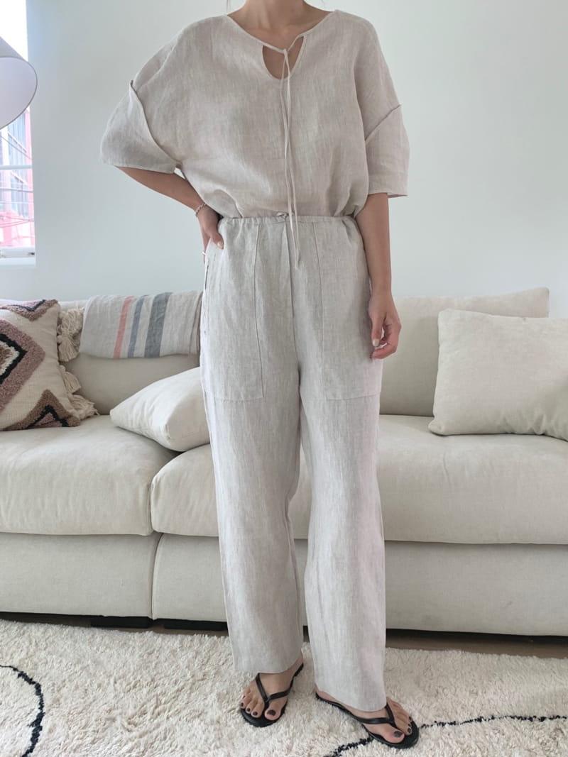 UERE - Korean Children Fashion - #Kfashion4kids - Two-way Linen Blouse - 2