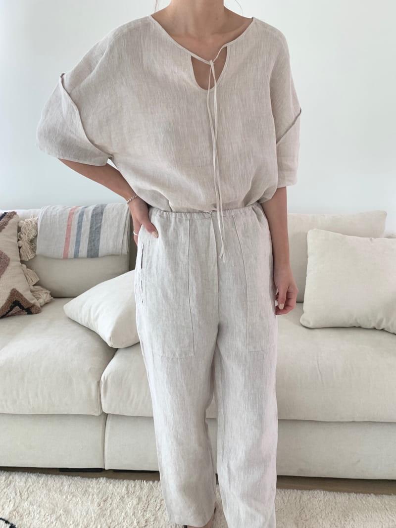 UERE - BRAND - Korean Children Fashion - #Kfashion4kids - Two-way Linen Blouse