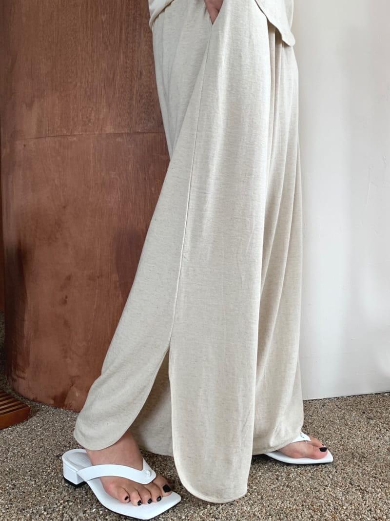 UERE - Korean Children Fashion - #Kfashion4kids - Linen Open Pants - 3