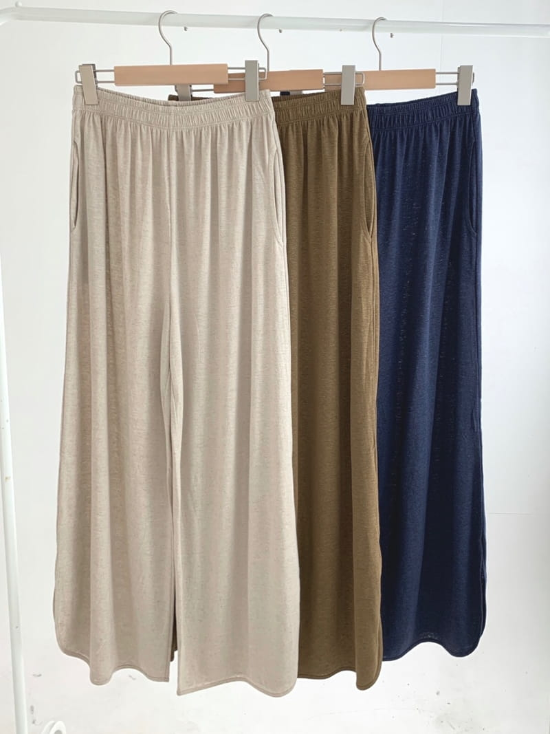 UERE - Korean Children Fashion - #Kfashion4kids - Linen Open Pants - 4
