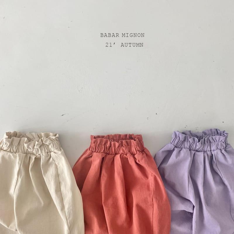 BABAR MIGNON - Korean Children Fashion - #Kfashion4kids - Sausage Pants