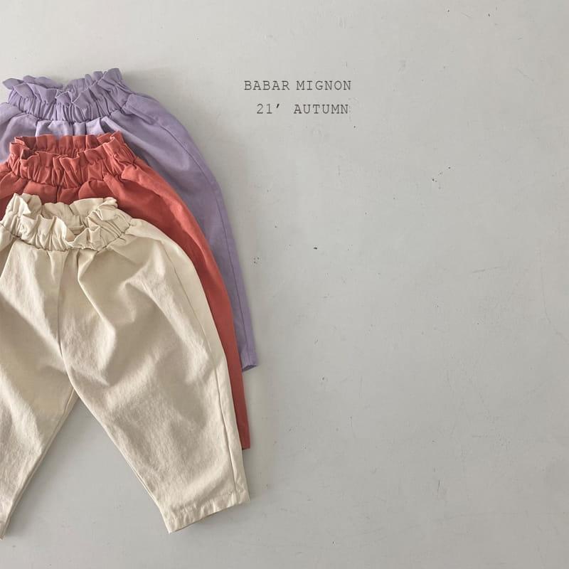 BABAR MIGNON - Korean Children Fashion - #Kfashion4kids - Sausage Pants - 3