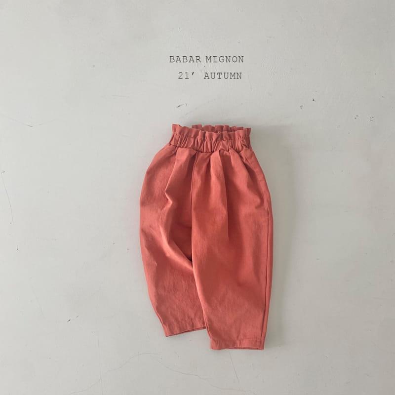 BABAR MIGNON - Korean Children Fashion - #Kfashion4kids - Sausage Pants - 9