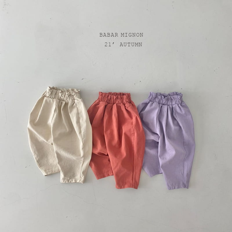 BABAR MIGNON - BRAND - Korean Children Fashion - #Kfashion4kids - Sausage Pants