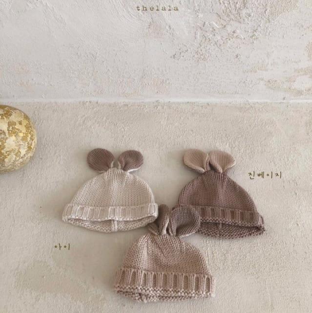 LALA - BRAND - Korean Children Fashion - #Kfashion4kids - Rabbit Knit Bonnet