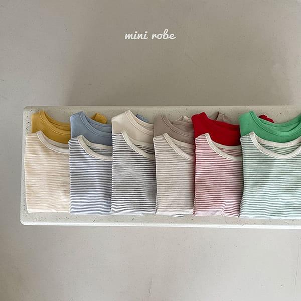 MINI ROBE - Korean Children Fashion - #Kfashion4kids - 1+1 Tee - 2