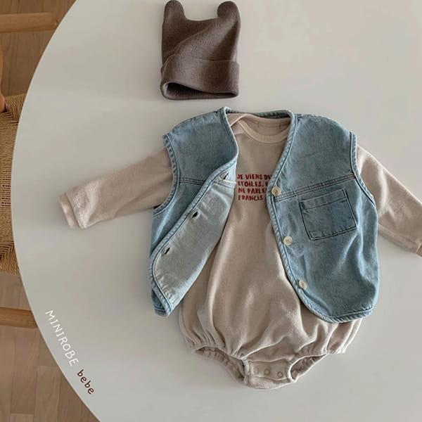 MINI ROBE - Korean Children Fashion - #Kfashion4kids - Denimn Vest Outer - 10