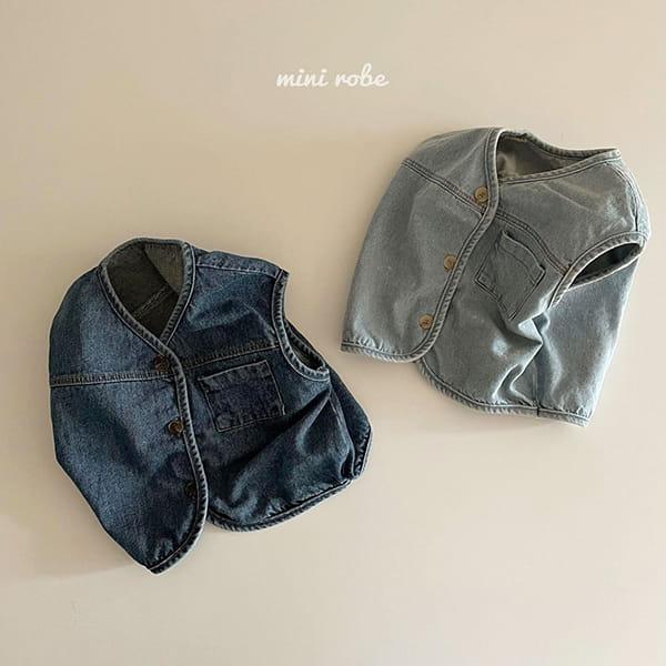 MINI ROBE - Korean Children Fashion - #Kfashion4kids - Denimn Vest Outer - 12