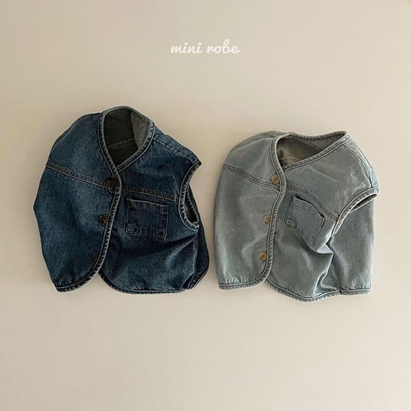 MINI ROBE - Korean Children Fashion - #Kfashion4kids - Denimn Vest Outer - 3