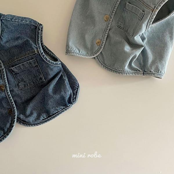 MINI ROBE - Korean Children Fashion - #Kfashion4kids - Denimn Vest Outer - 4
