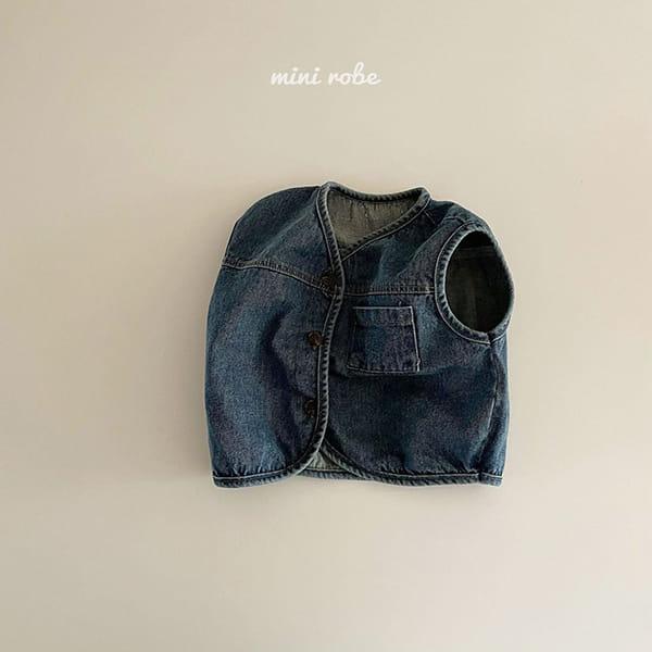 MINI ROBE - Korean Children Fashion - #Kfashion4kids - Denimn Vest Outer - 5