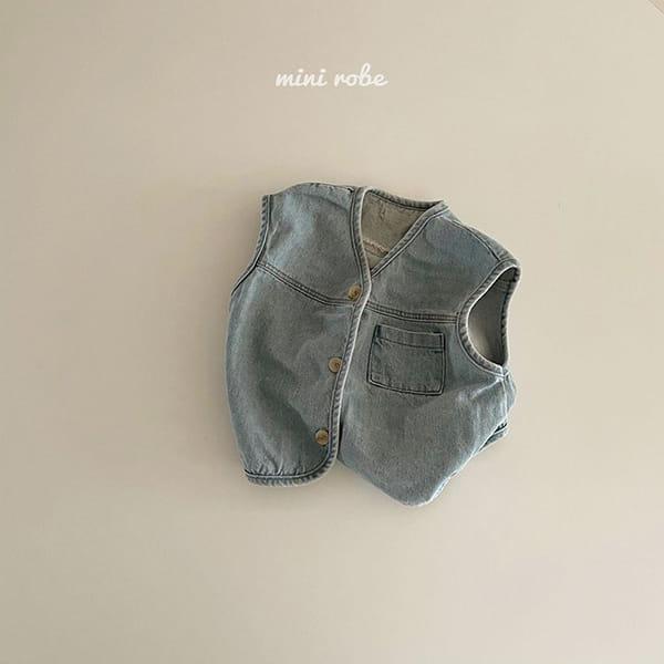MINI ROBE - Korean Children Fashion - #Kfashion4kids - Denimn Vest Outer - 6