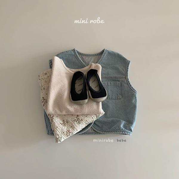MINI ROBE - Korean Children Fashion - #Kfashion4kids - Denimn Vest Outer - 7