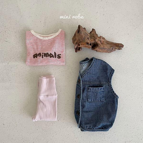 MINI ROBE - Korean Children Fashion - #Kfashion4kids - Denimn Vest Outer - 8