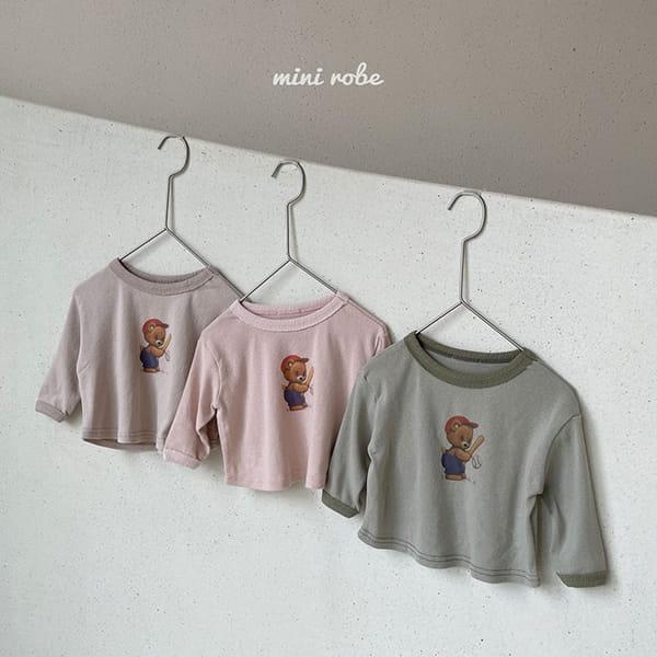 MINI ROBE - Korean Children Fashion - #Kfashion4kids - Bear Bear Tee - 2