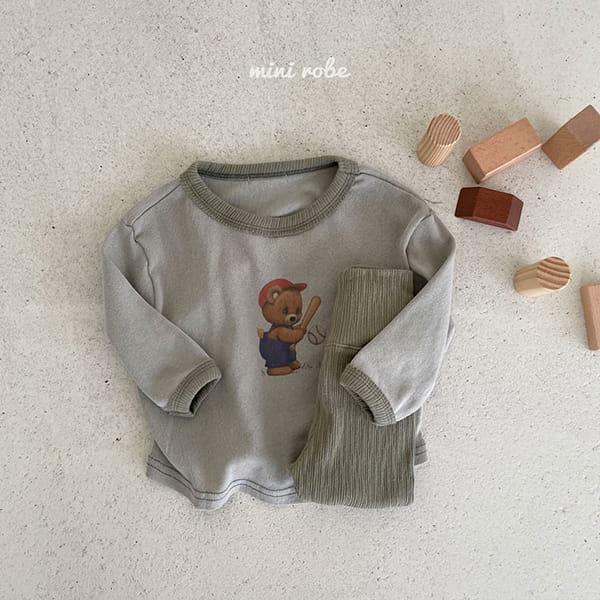 MINI ROBE - Korean Children Fashion - #Kfashion4kids - Bear Bear Tee - 3