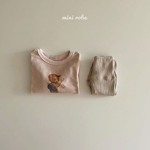 MINI ROBE - Korean Children Fashion - #Kfashion4kids - Bear Bear Tee - 5