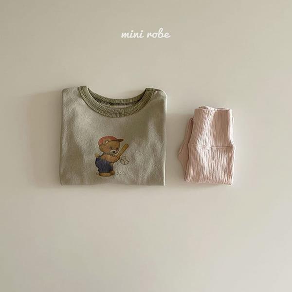 MINI ROBE - Korean Children Fashion - #Kfashion4kids - Bear Bear Tee - 6
