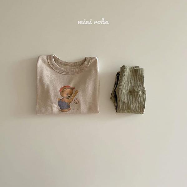 MINI ROBE - Korean Children Fashion - #Kfashion4kids - Bear Bear Tee - 7