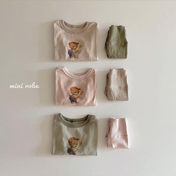 MINI ROBE - Korean Children Fashion - #Kfashion4kids - Bear Bear Tee - 8