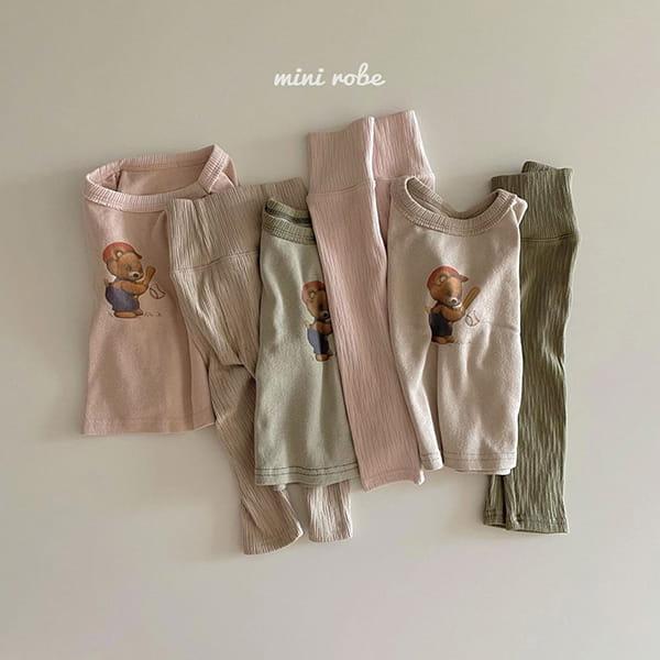MINI ROBE - Korean Children Fashion - #Kfashion4kids - Bear Bear Tee - 9