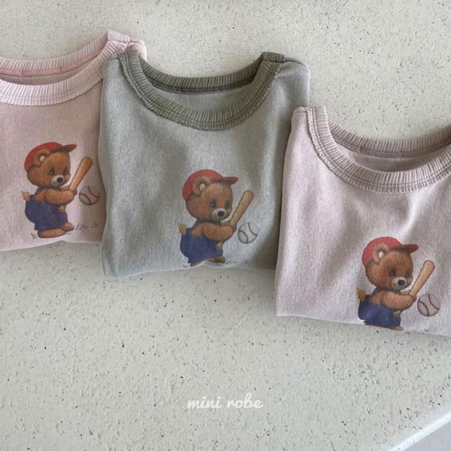 MINI ROBE - BRAND - Korean Children Fashion - #Kfashion4kids - Bear Bear Tee