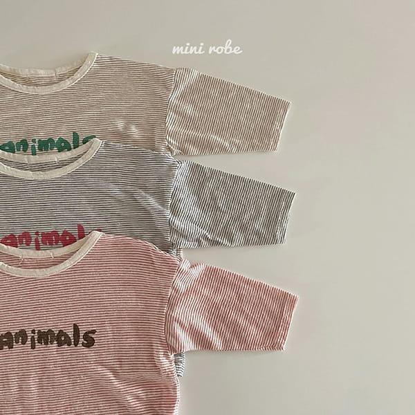 MINI ROBE - Korean Children Fashion - #Kfashion4kids - Animal Tee