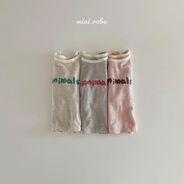 MINI ROBE - Korean Children Fashion - #Kfashion4kids - Animal Tee - 12