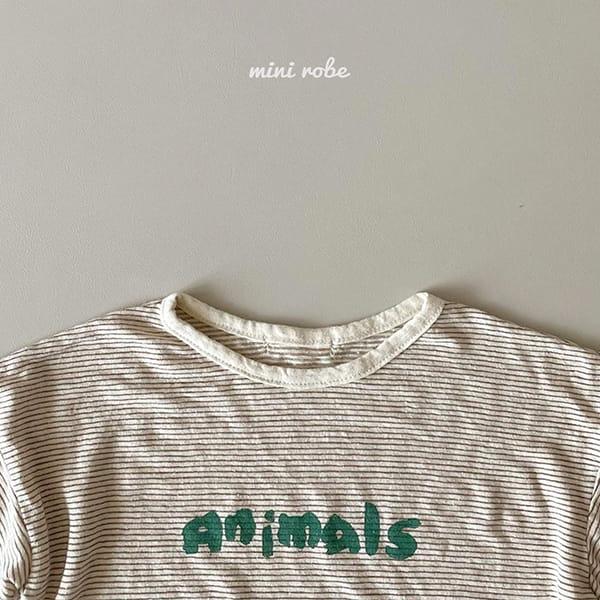 MINI ROBE - Korean Children Fashion - #Kfashion4kids - Animal Tee - 8