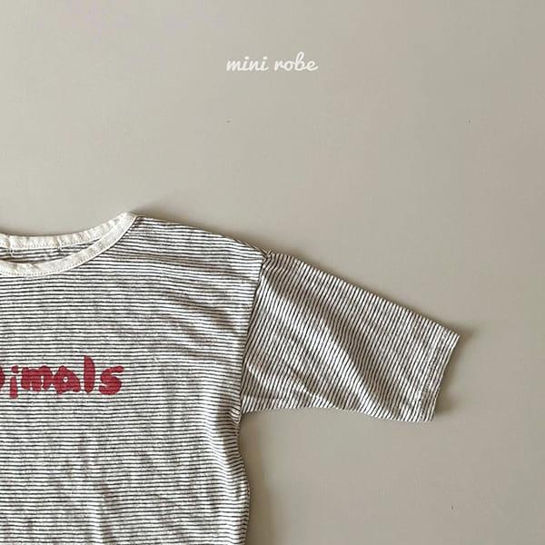 MINI ROBE - Korean Children Fashion - #Kfashion4kids - Animal Tee - 9