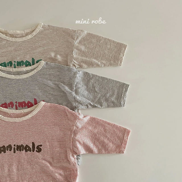 MINI ROBE - BRAND - Korean Children Fashion - #Kfashion4kids - Animal Tee