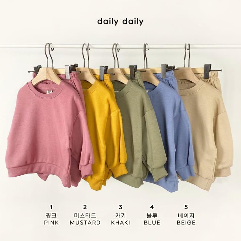 DAILY DAILY - Korean Children Fashion - #Kfashion4kids - Everyday Fleece Top Bottom Set
